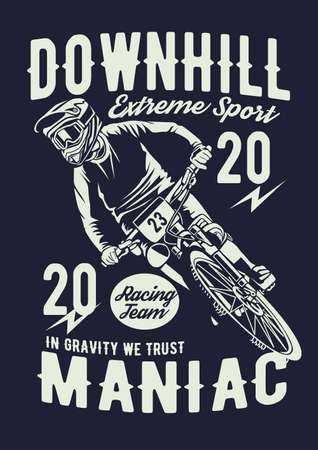 Downhill bike vector illustration