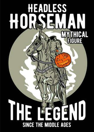 Headless horseman vector illustration Vector Illustration