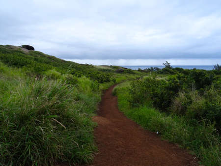Scenic view of the nature in Maui's Northwestern coastline 写真素材