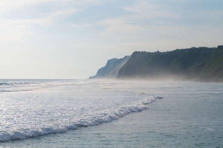 Beautiful view of the Melasti Beach coastline in the Bukit area in Bali, Indonesia Stock Photo