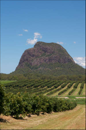 Beautiful scenic view of Mt. Tibrogargan of the Glass House Moutains located in Queensland, Australia