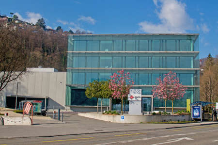 Lugano, Ticino, Switzerland - 21st March 2021 : View of the Swiss national supercomputing center located in Lugano, Switzerland. The center is run by ETH Zurich University Sajtókép