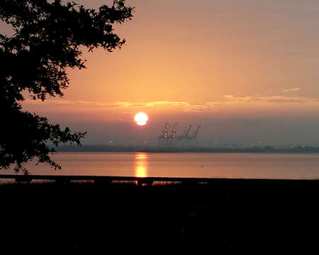 river scape: Fiery Sunrise