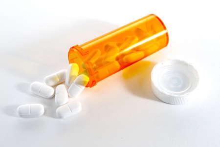 Prescription Bottle with pills