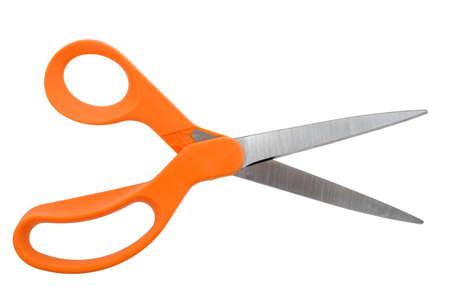 Orange Handlded Scissors Opened