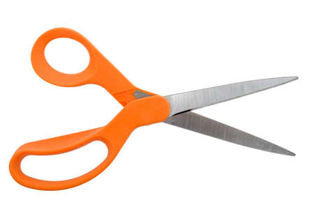 Orange Handlded Scissors Opened