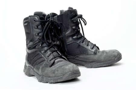 Zippered jump boots worn by paramedics and EMTs.