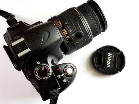 Manchester, England, UK - October 03, 2018: Shot of a Nikon DSLR camera.