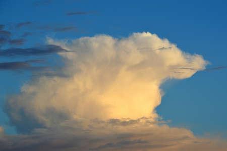 Clouds in a blue sky.