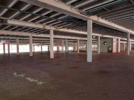 Manchester, England, United Kingdom - 04/02/2020: Trafford Centre empty lower car park due to coronavirus (COVID-19).