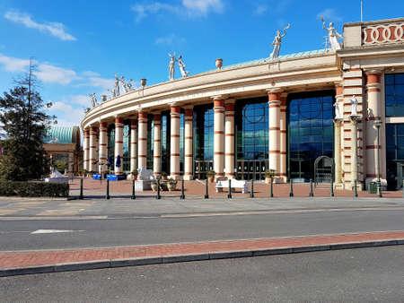 Manchester, England, United Kingdom - 04/02/2020: Trafford Centre deserted on sunny day due to coronavirus (COVID-19).