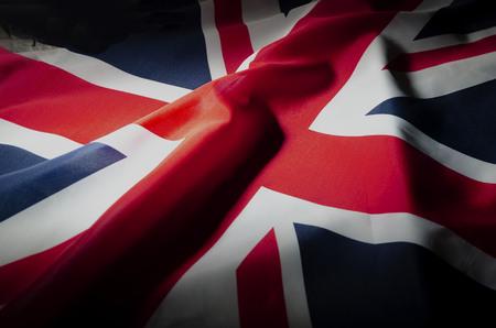 close up of British flag Stock Photo