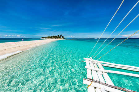 pristine coral reef: Kalanggaman island is a tropical beach paradise in the Philippines. Malapascua, November Stock Photo