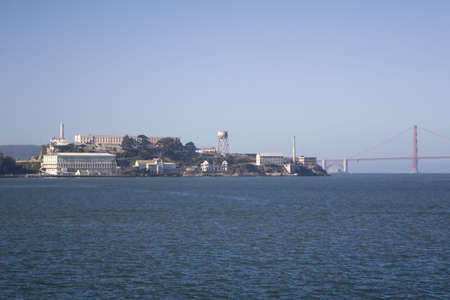 Alcatraz and Bridge photo