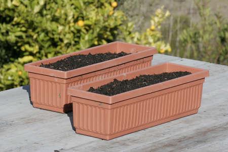 planters: Planters Side Stock Photo