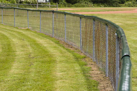 outfield: Outfield Fence Stock Photo
