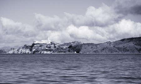 Alcatraz BW photo