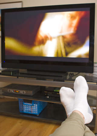 cable TV: Watch TV Stock Photo