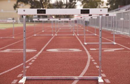 Hurdle Track Stockfoto