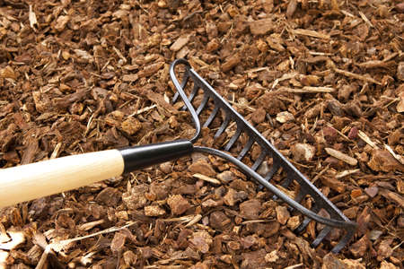 bark: Rake Chips Stock Photo