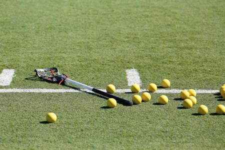 Lacrosse Balls Scattered