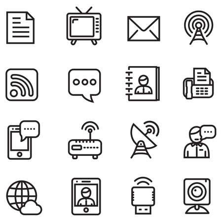 ios: IOS 7 line style icons - Communication icons