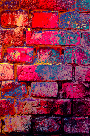 Old brick wall texture background. Colored style.