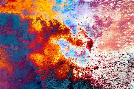 Rainbow style grunge background wall texture Stock Photo