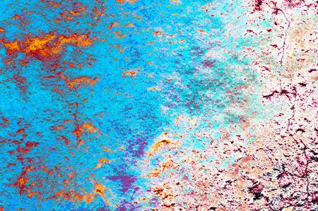 Rainbow style grunge background wall texture Stock Photo