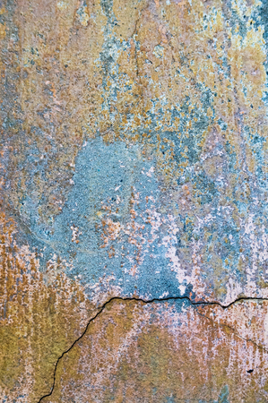 Cracked and peeling paint old wall background. Classic grunge texture