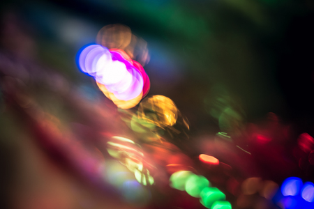 Abstract Christmas bokeh background texture