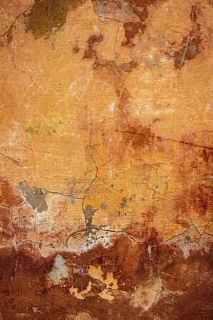 Cracked and peeling paint old wall background. Classic grunge texture Standard-Bild - 133666508