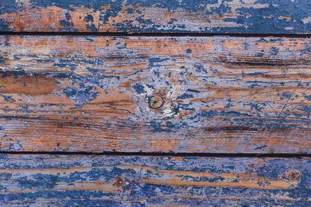 Old painted wooden planks for design. Blue vintage background. Stock fotó