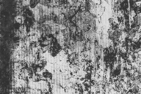 Abstract monochrome background with scratches, lines and paint spots. Black and white grunge texture for design. Zdjęcie Seryjne
