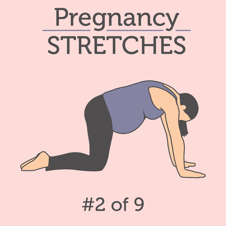 A Beautiful Young Lady doing her Daily Pregnancy Stretches and Workouts