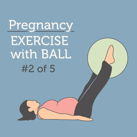 workouts: A Beautiful Young Lady doing her Daily Pregnancy Stretches and Workouts with a Ball
