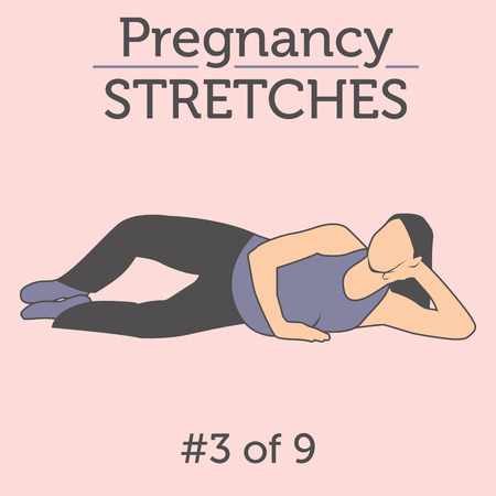 workouts: A Beautiful Young Lady doing her Daily Pregnancy Stretches and Workouts