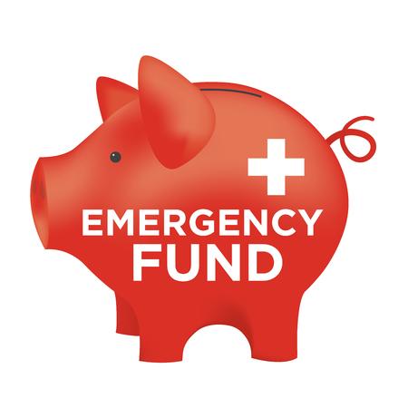 Financiële Noodfonds Piggy Bank to Protect from Home, huis, auto of Vehicle Damage, Job Verlies of werkloosheid, en het ziekenhuis of medische rekeningen