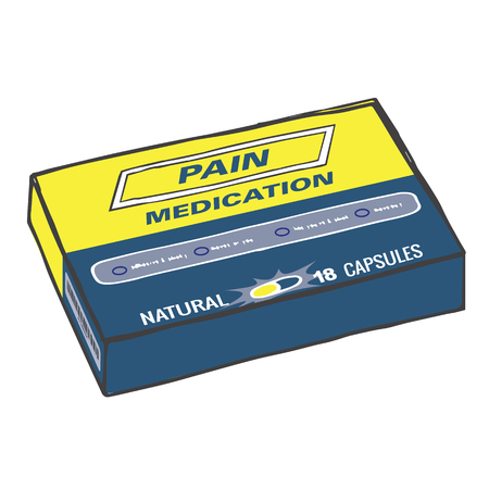 strong box: Pain Medication Box for when you Get Hurt on the Job or Have Back Pain or Even a Simple Headache. The Capsules, Gel Tabs, or Tablets will Help You Feel Healthy and Strong. This Drug Relieves Pain!
