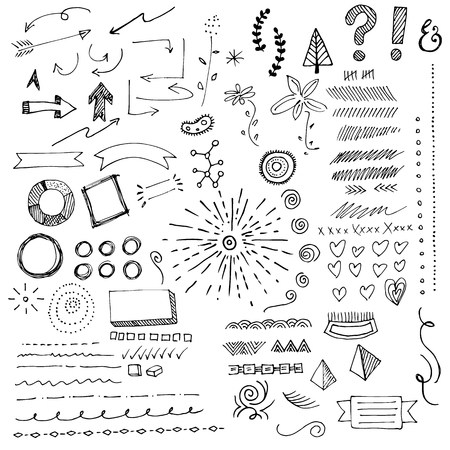 Hand Drawn Arrows And Sketches And Elements. Put These On Your Infographics And Certificates. Yes. You Have My Permission.