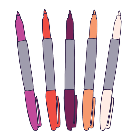 Markers of Various Colors to Use in Your Drawing Projects and Infographics