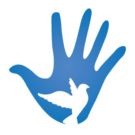 corps: Hand with Dove Peace Donation Charity Icon
