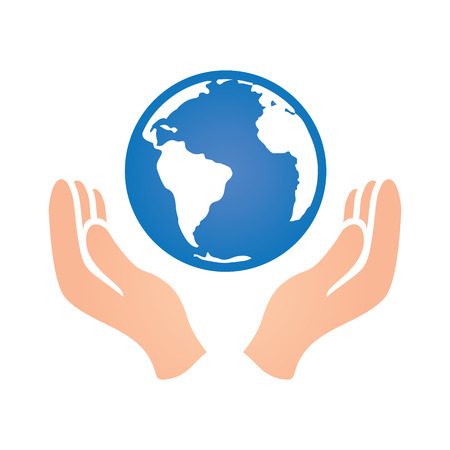 charity drive: World with Two Hands Peace Donation Charity Icon