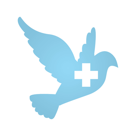corps: Dove with Medical Symbol Peace Donation Charity Icon Illustration