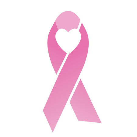 cancer ribbons: Pink heart Breast Cancer  Ribbons with Different Differing Icons in the Middle