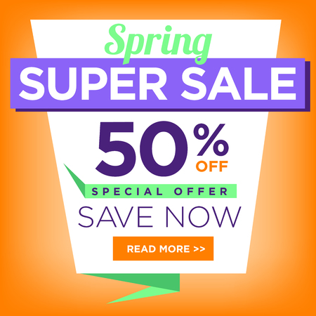 super hot: Super Sale for clearance at 50% off!  Its a hot deal sale poster & a colorful background. Wow! Special offer sale poster or template for your marketing or ad campaigns.  Also for retail sales!