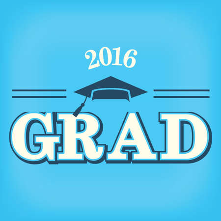 graduating: 2016 Congrats or Congratulations Graduate Typography Intended for Graduating Seniors and the Class of 2016.  Graphic Can be Used for Invitations, Infographics, Tshirt Designs, Etc. Illustration