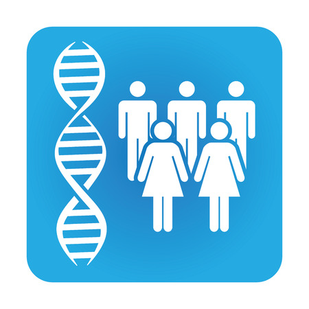 ancestor: Medical Healthcare Icon with People Charting Disease or Scientific Discovery