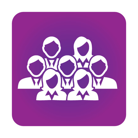 Group of Business People - Men and Women in Business Suits Working as a Team Oriented Group in a Meeting Illustration
