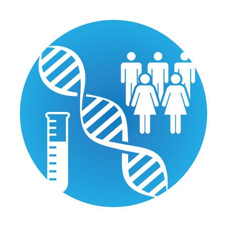 Medical Healthcare Ikona z osobami Charting choroby lub odkrycia naukowego
